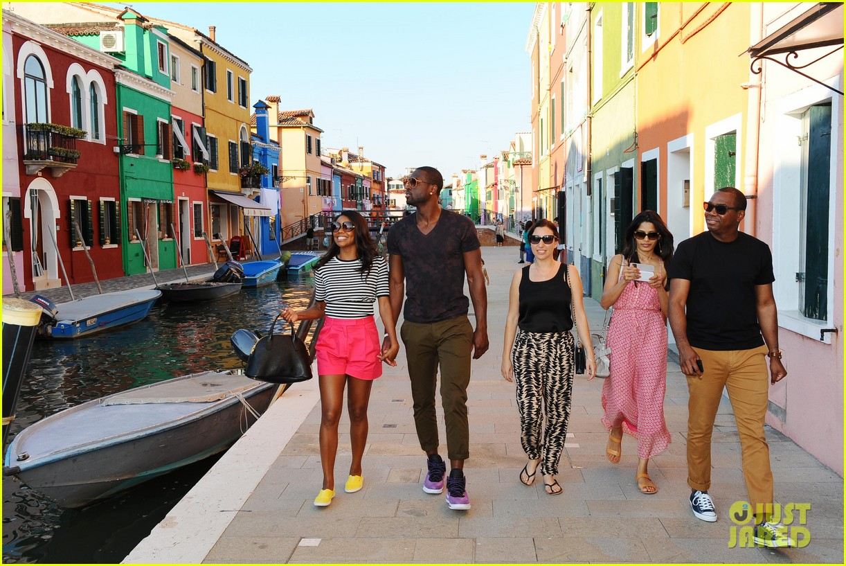 freida pinto venice sightseeing with gabrielle union dwyane wade 252941080