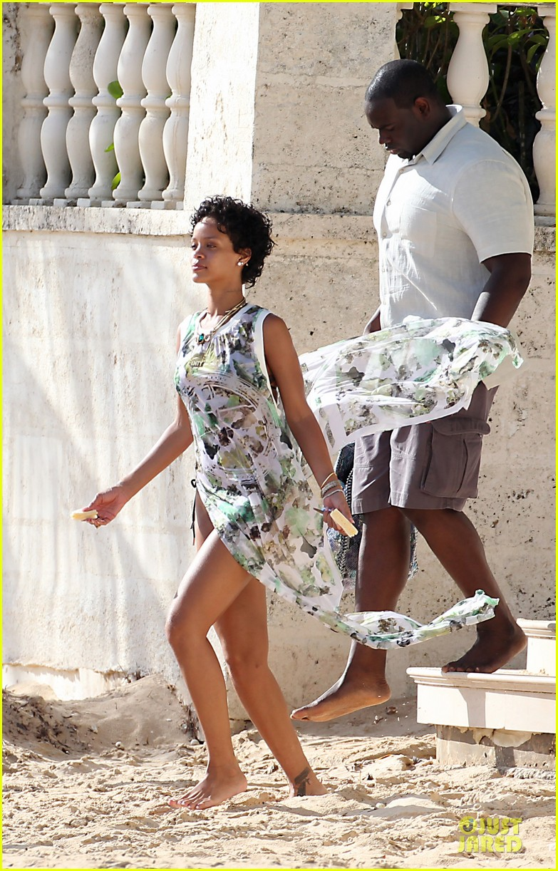 rihanna bikini clad vacation in barbados 012926878