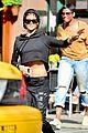 rihanna hails a cab in new york city 04