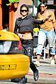 rihanna hails a cab in new york city 08