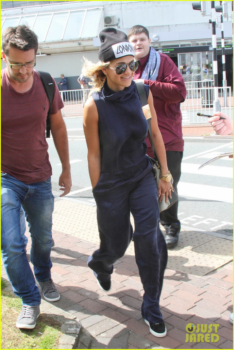 rita ora fan friendly dublin arrival before lytham proms festival 132923568
