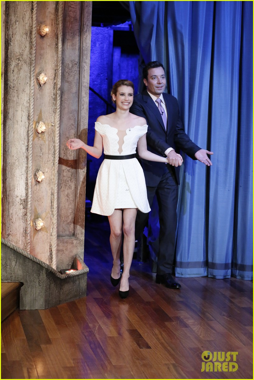 emma roberts does the talk show circuit is denied cronuts 03