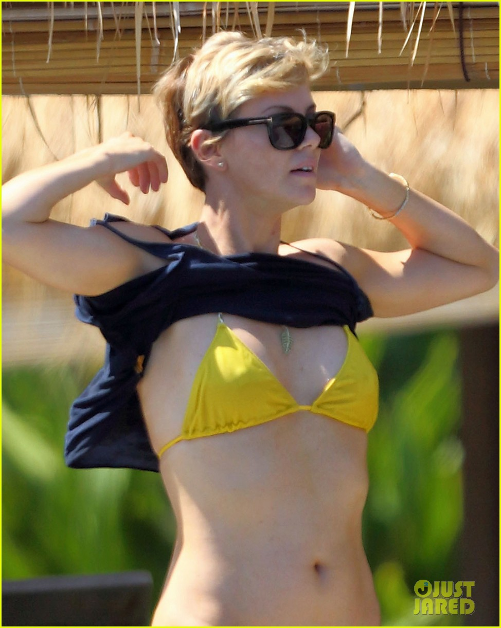 charlize theron rocks sexy bikini for 38th birthday 04