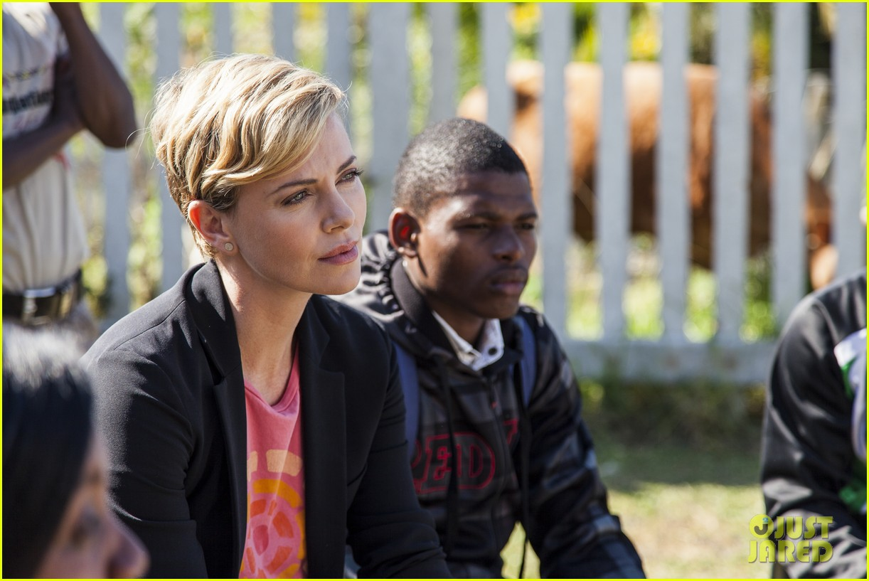 charlize theron visits youth ambassador project in south africa 10