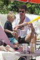 robin thicke paula patton beach day with julian 02