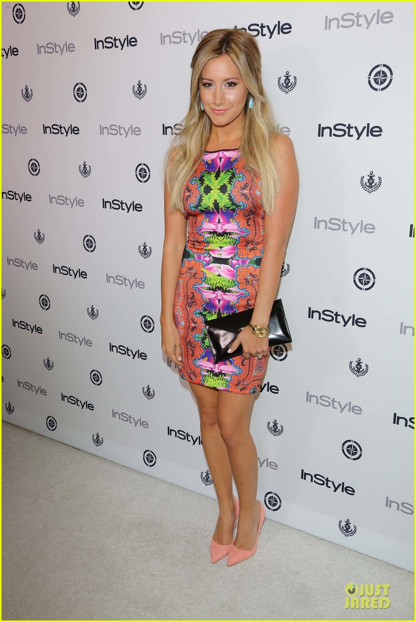 ashley tisdale christopher french engaged couple at instyle soiree 01