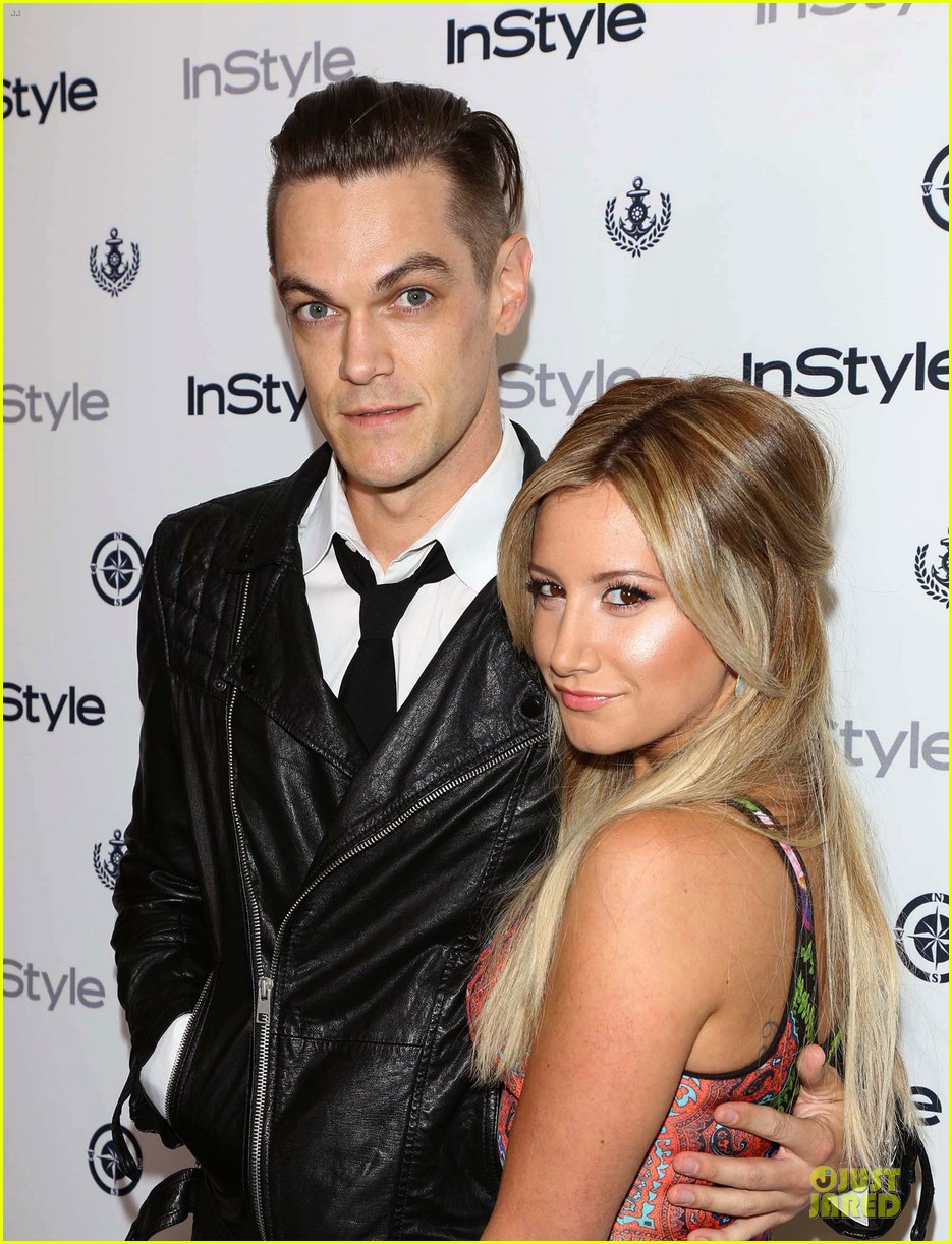 ashley tisdale christopher french engaged couple at instyle soiree 16