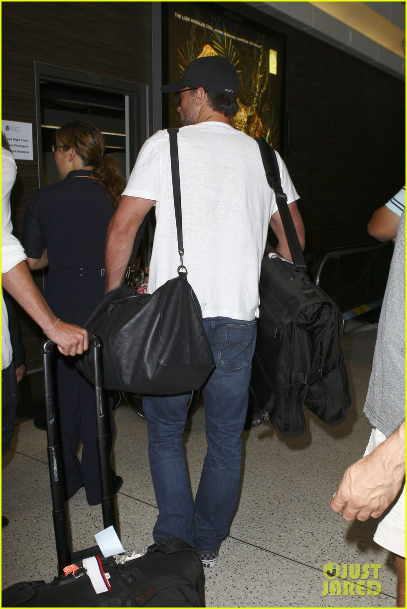 tom welling makes rare appearance at lax 152940898