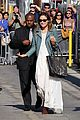 olivia wilde supports jason sudeikis at jimmy kimmel live 18