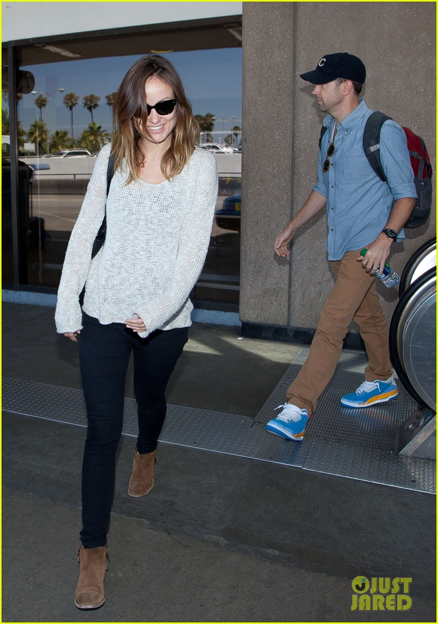 olivia wilde jason sudeikis from nyc to lax duo 08