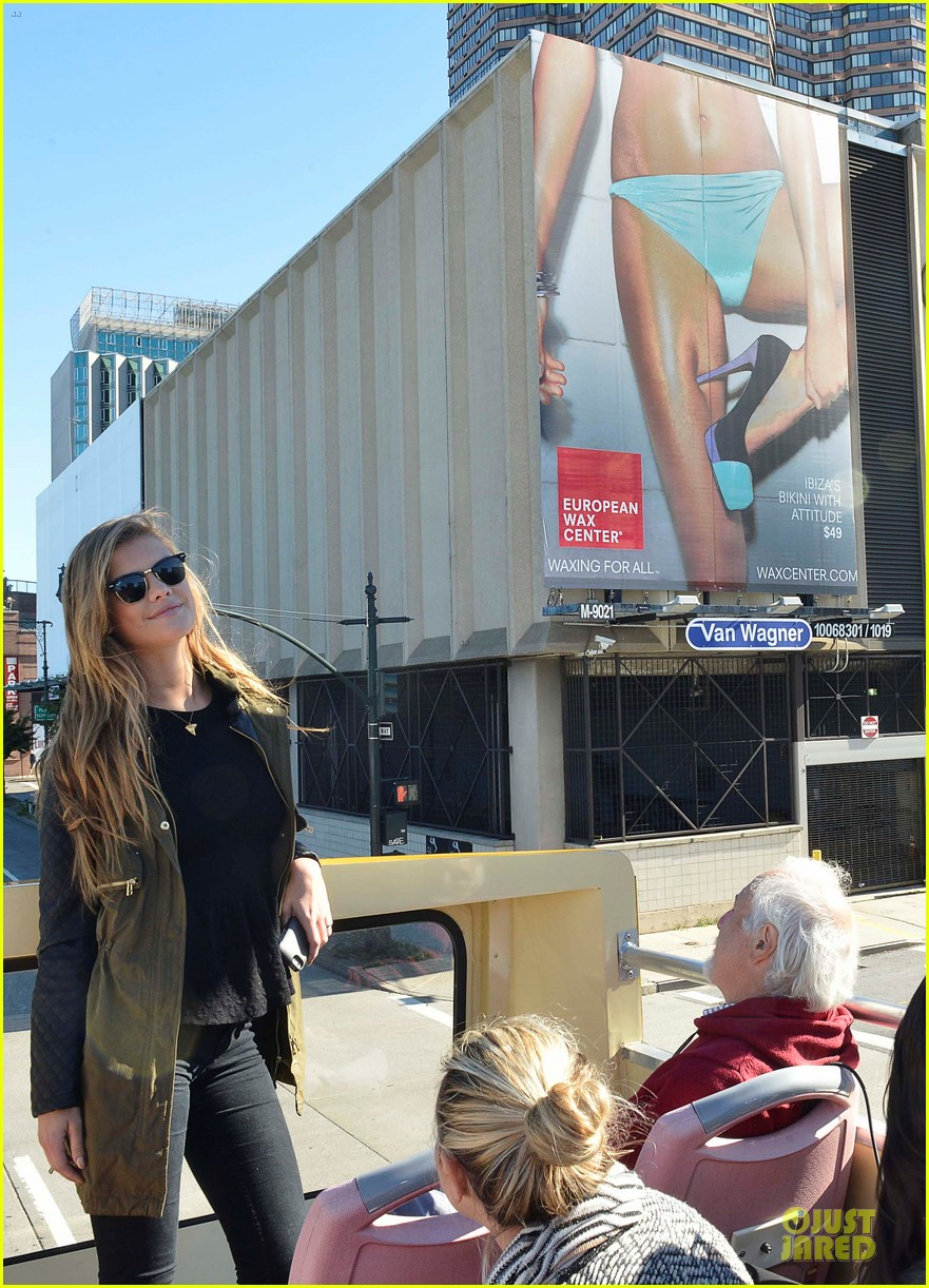 nina agdal european wax center bum bus tour 17