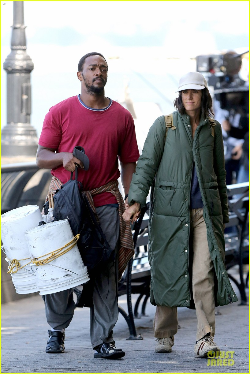 jennifer connelly anthony mackie hold hands for shelter 03