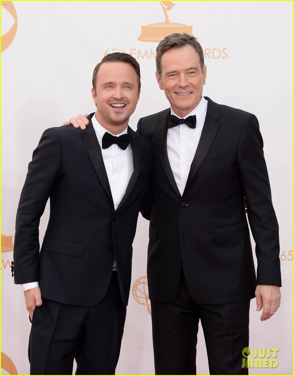 bryan cranston aaron paul emmys 2013 red carpet 142958126