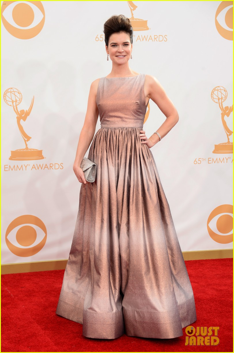 betsy brant dean norris emmys 2013 red carpet 01