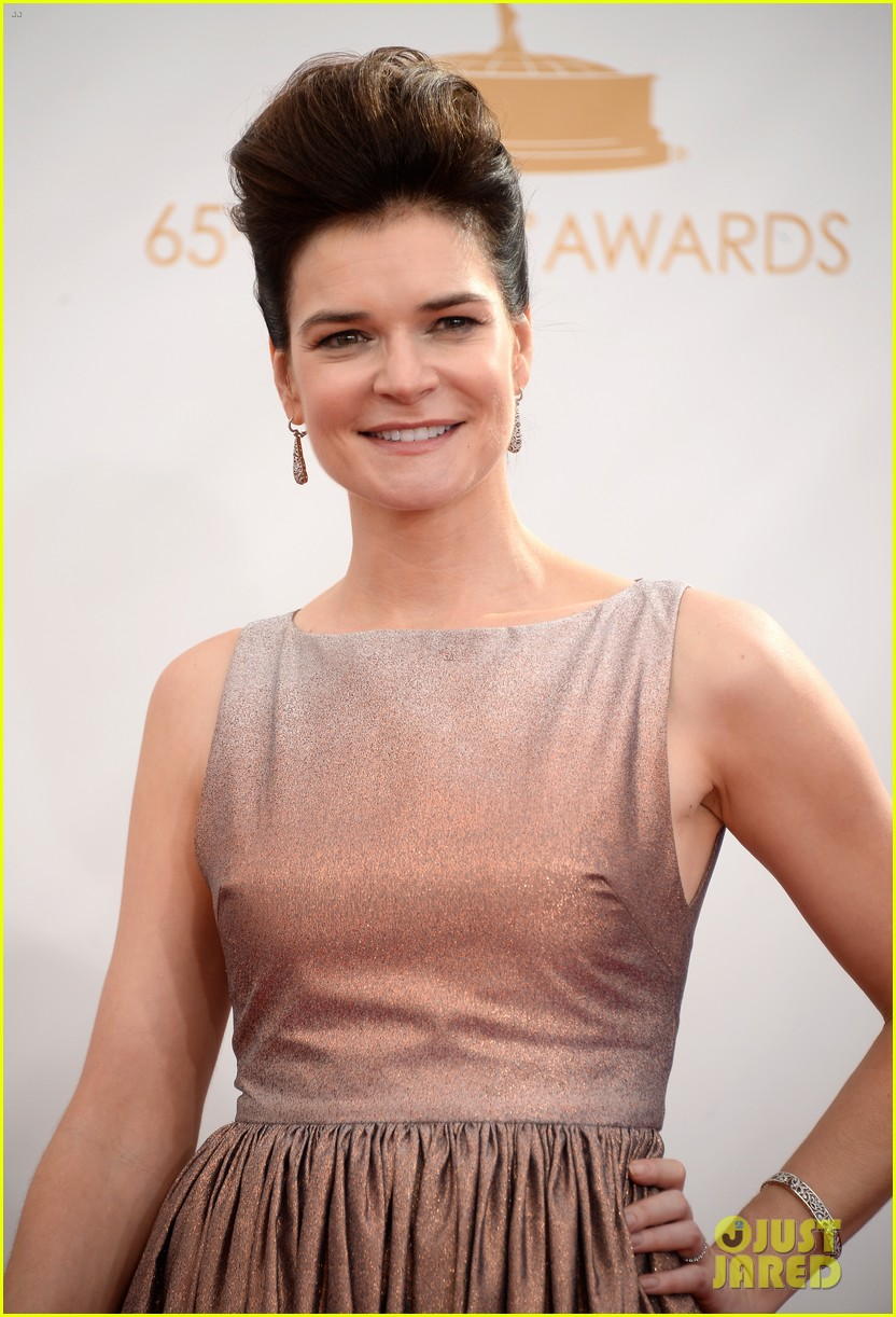 betsy brant dean norris emmys 2013 red carpet 032958151