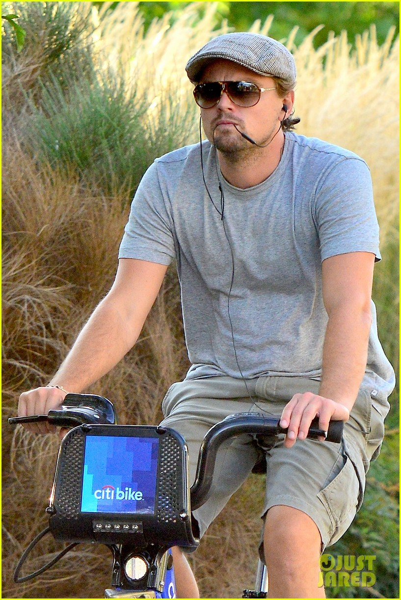 leonardo dicaprio citibike ride after us open date 07