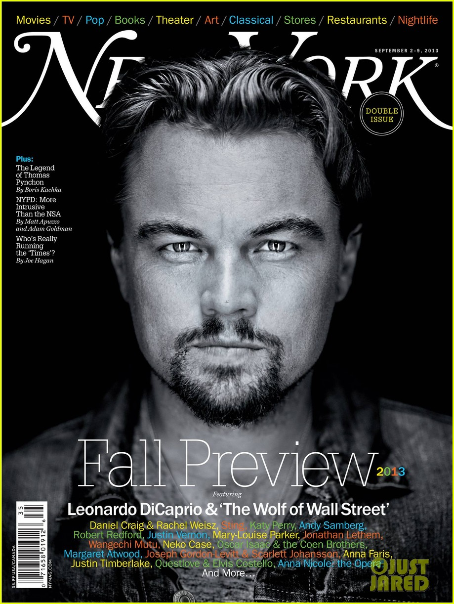 leonardo dicaprio covers new york mag fall preview