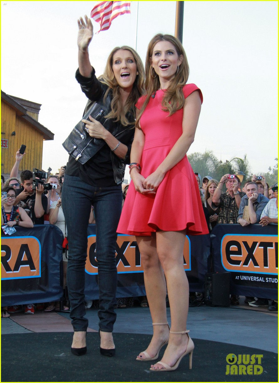 celine dion tapes extra appearance with maria menounos 072948976