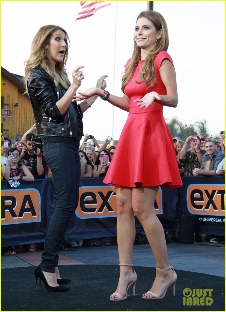 celine dion tapes extra appearance with maria menounos 102948979