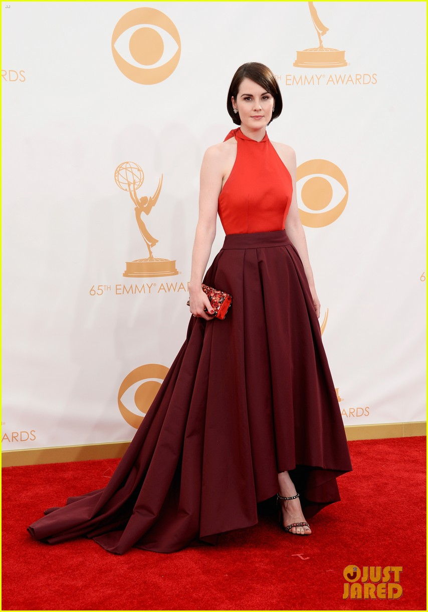 michelle dockery emmys 2013 red carpet 072958101