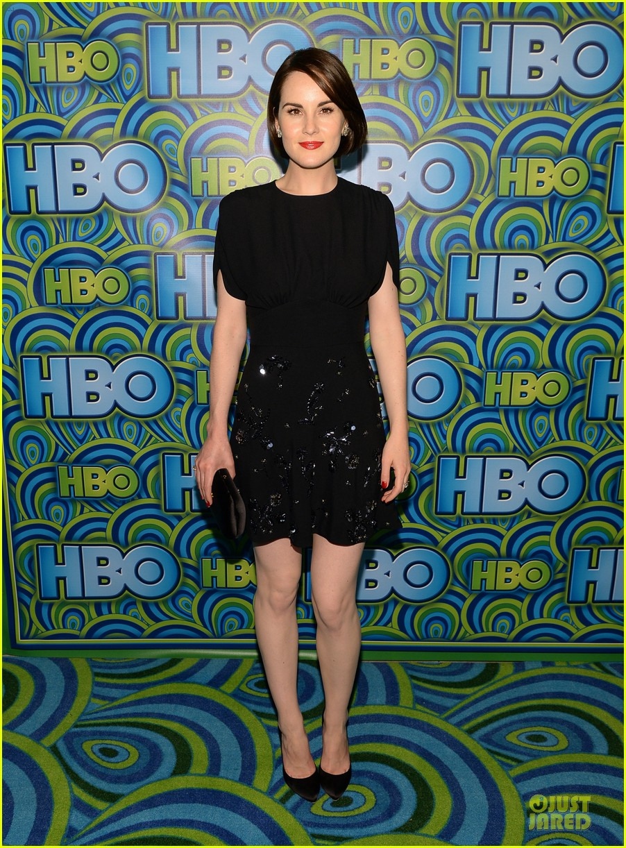 michelle dockery switches it up for hbo emmys after party 032958730