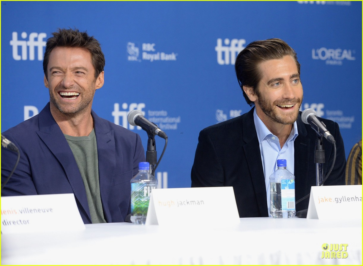 jake gyllenhaal hugh jackman prisoners tiff press conference 122945973