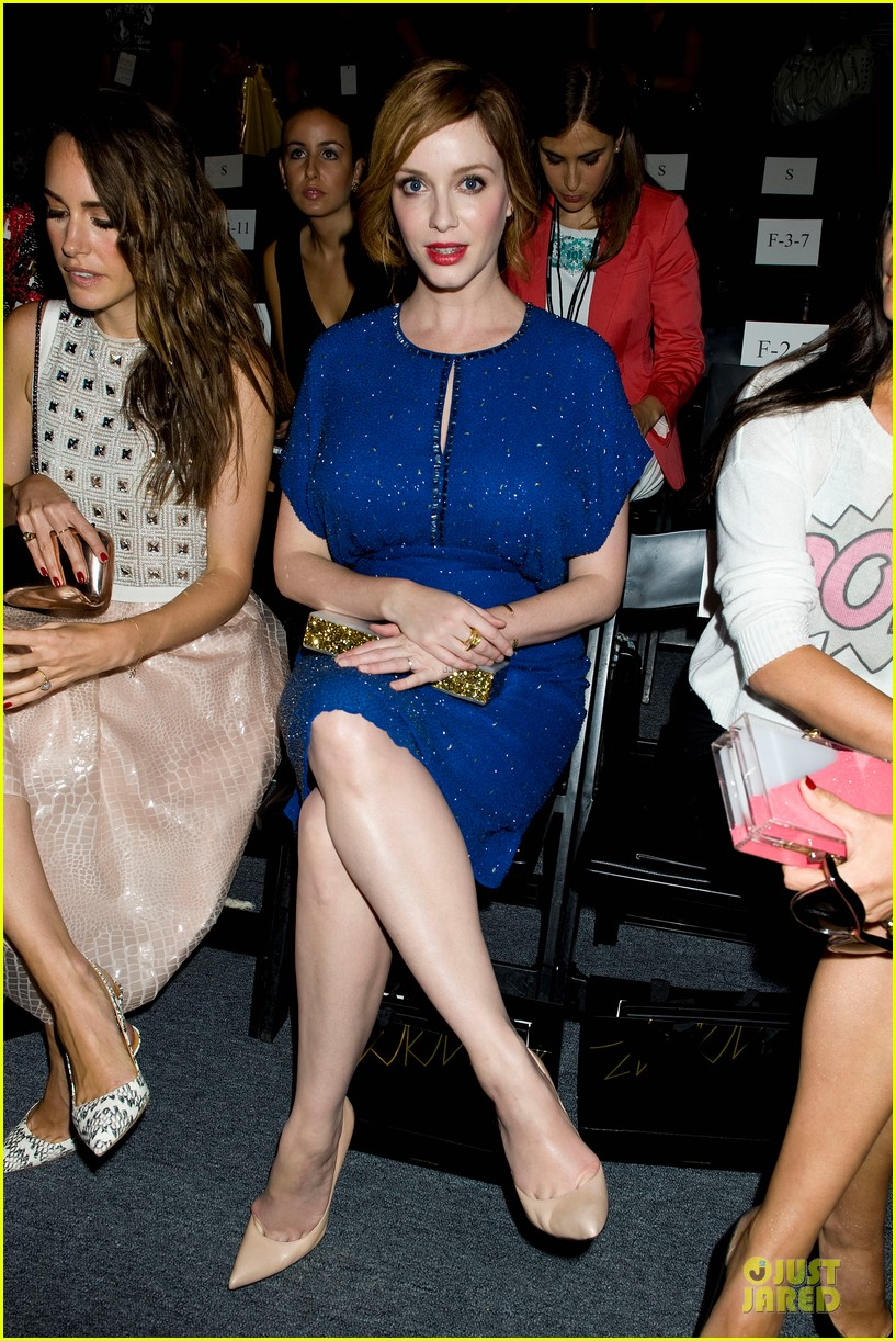 christina hendricks louise roe jenny packham fashion show 10
