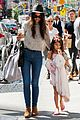 katie holmes steps out with arm casted suri 01