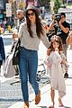 katie holmes steps out with arm casted suri