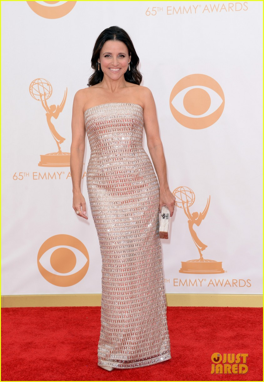 julie louis dreyfus emmys 2013 red carpet 03