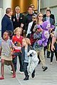 angelina jolie arrives in syd with all six kids 09