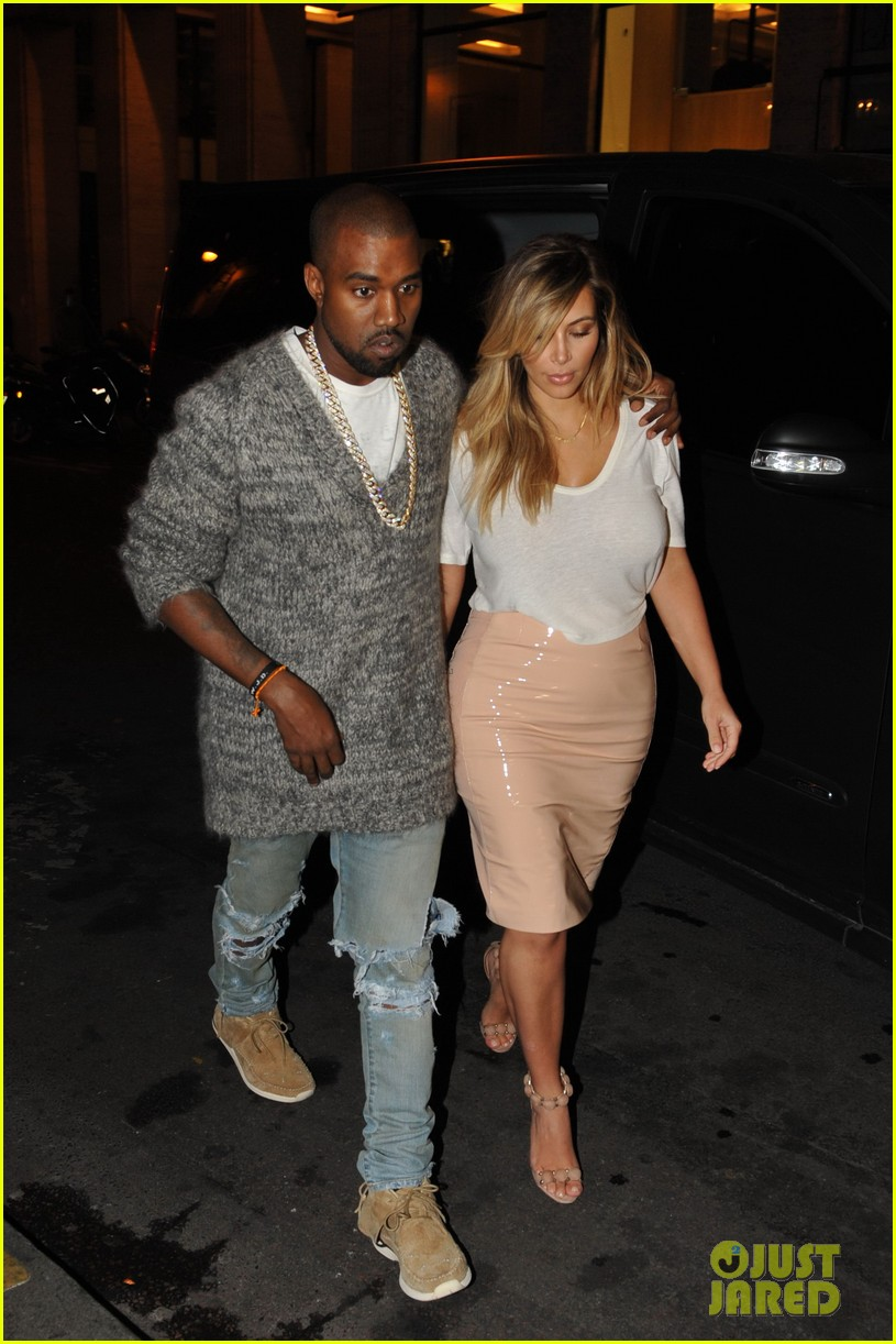 kim kardashian kanye west parisian dinner date 012963303