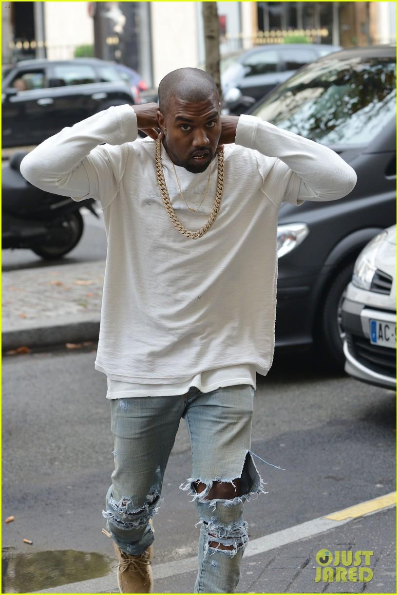 kim kardashian kanye west step out together in paris 062961528