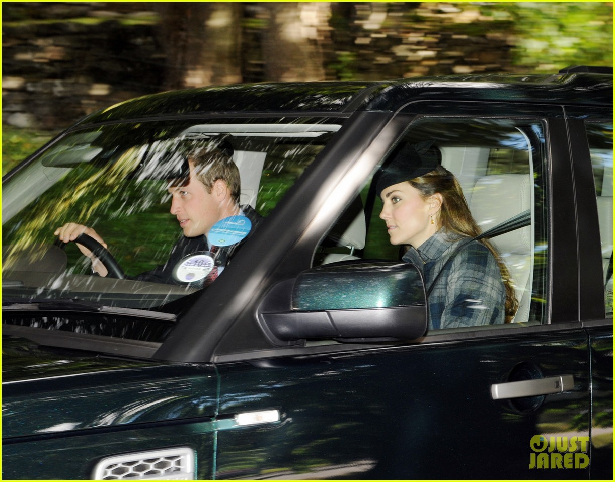 kate middleton prince william drive away after church 042959281