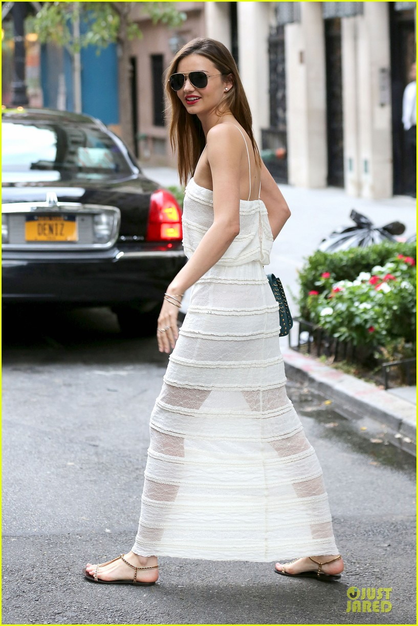 miranda kerr sports sheer dress for gal pal birthday 132953761