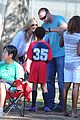 heidi klum tends to henry bloody nose soccer game 27