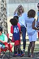 heidi klum tends to henry bloody nose soccer game 28
