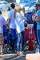 heidi klum tends to henry bloody nose soccer game 38