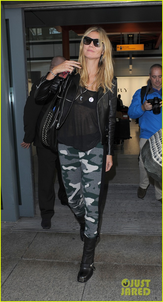 heidi klum sheer heathrow airport arrival 04