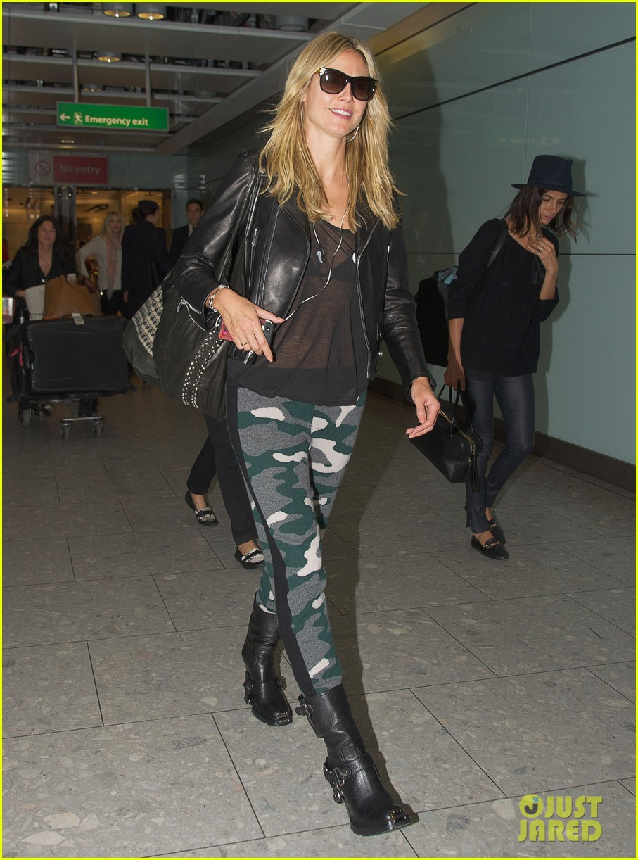heidi klum sheer heathrow airport arrival 08