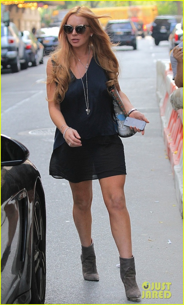 lindsay lohan proenza schouler purple party 10