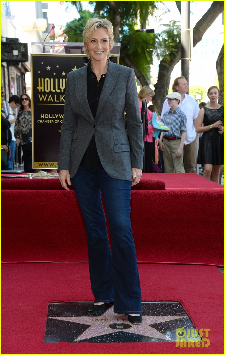 jane lynch receives star on hollywood walk of fame 08