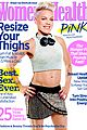 pink bares flat tummy for womens health october 2013 03