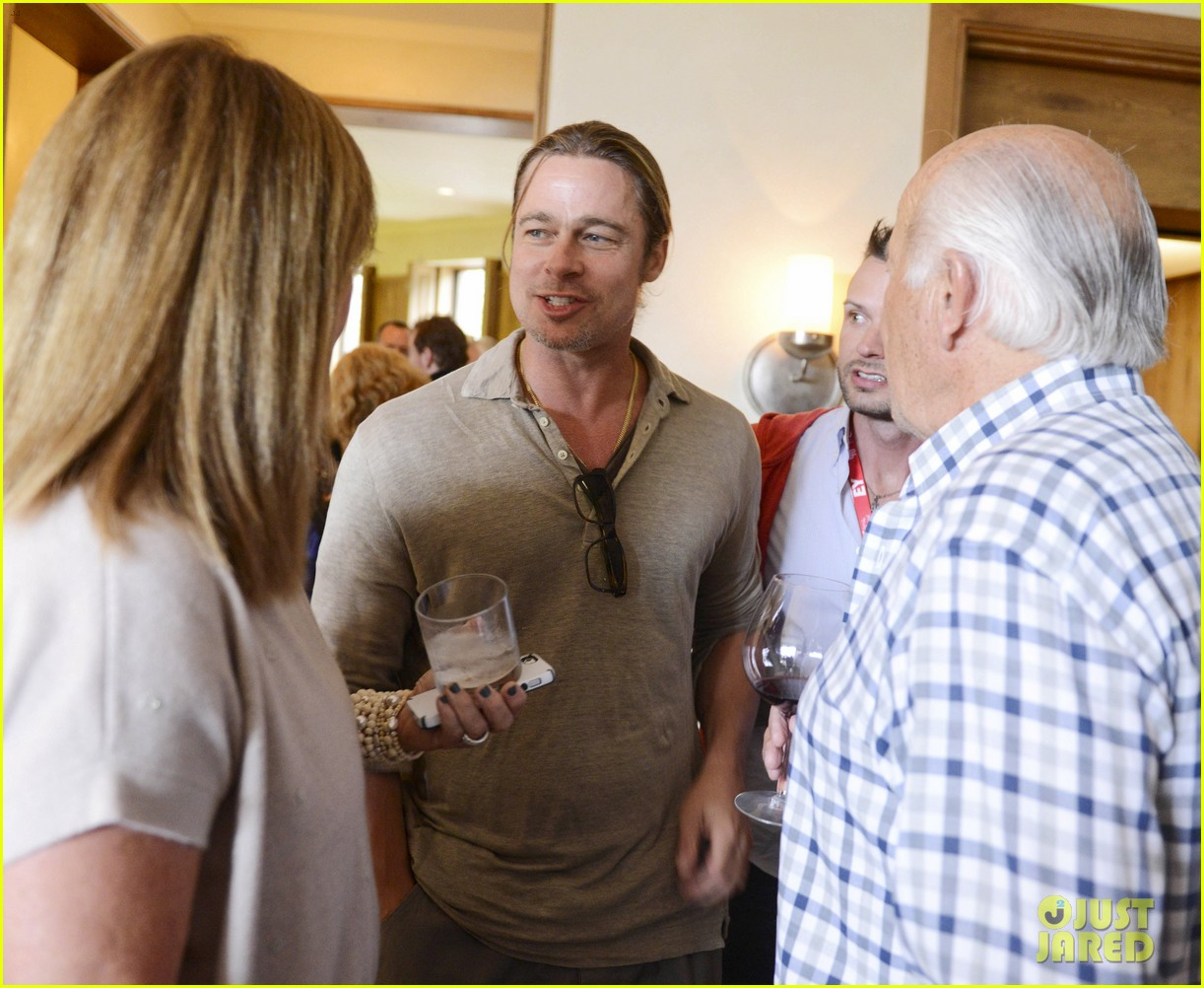 brad pitt michael fassbender ampas party in telluride 01