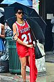 rihanna wears basketball jersey dress in rainy nyc 28