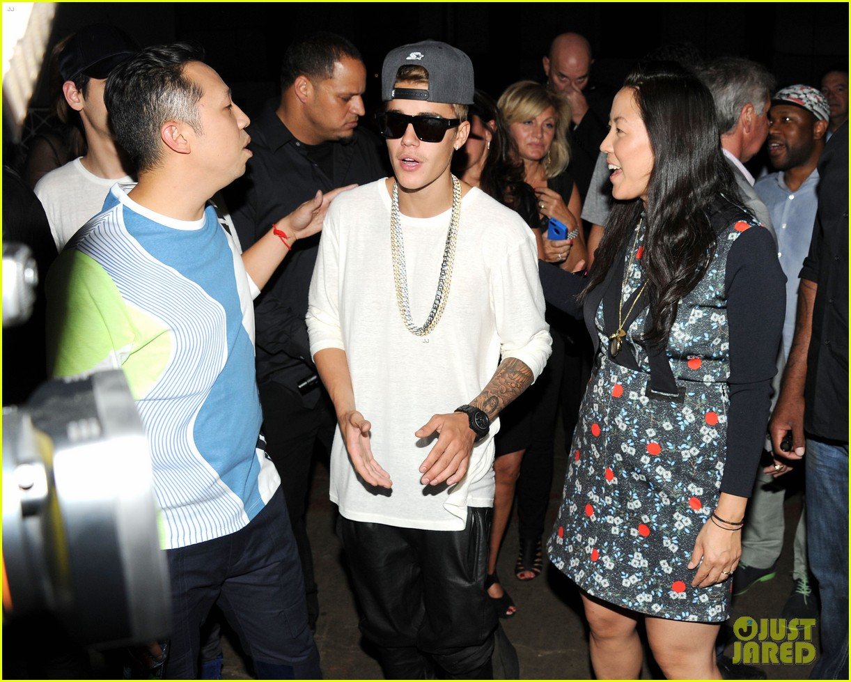 rihanna justin bieber opening ceremony nyfw after party 04