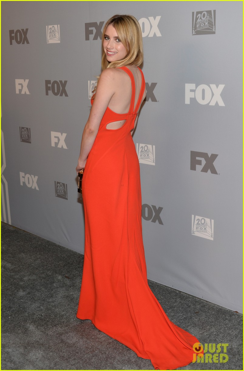 emma roberts evan peters fox emmys 2013 after party 01