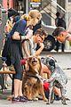 amanda seyfried kisses finn during friday walk 24