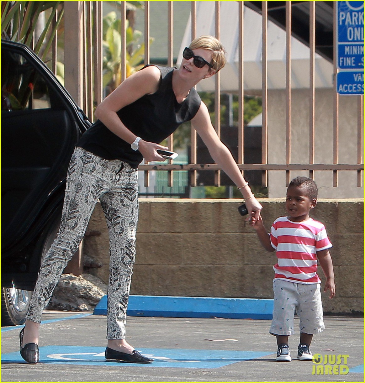 charlize theron grabs coffee with her little man jackson 032960104