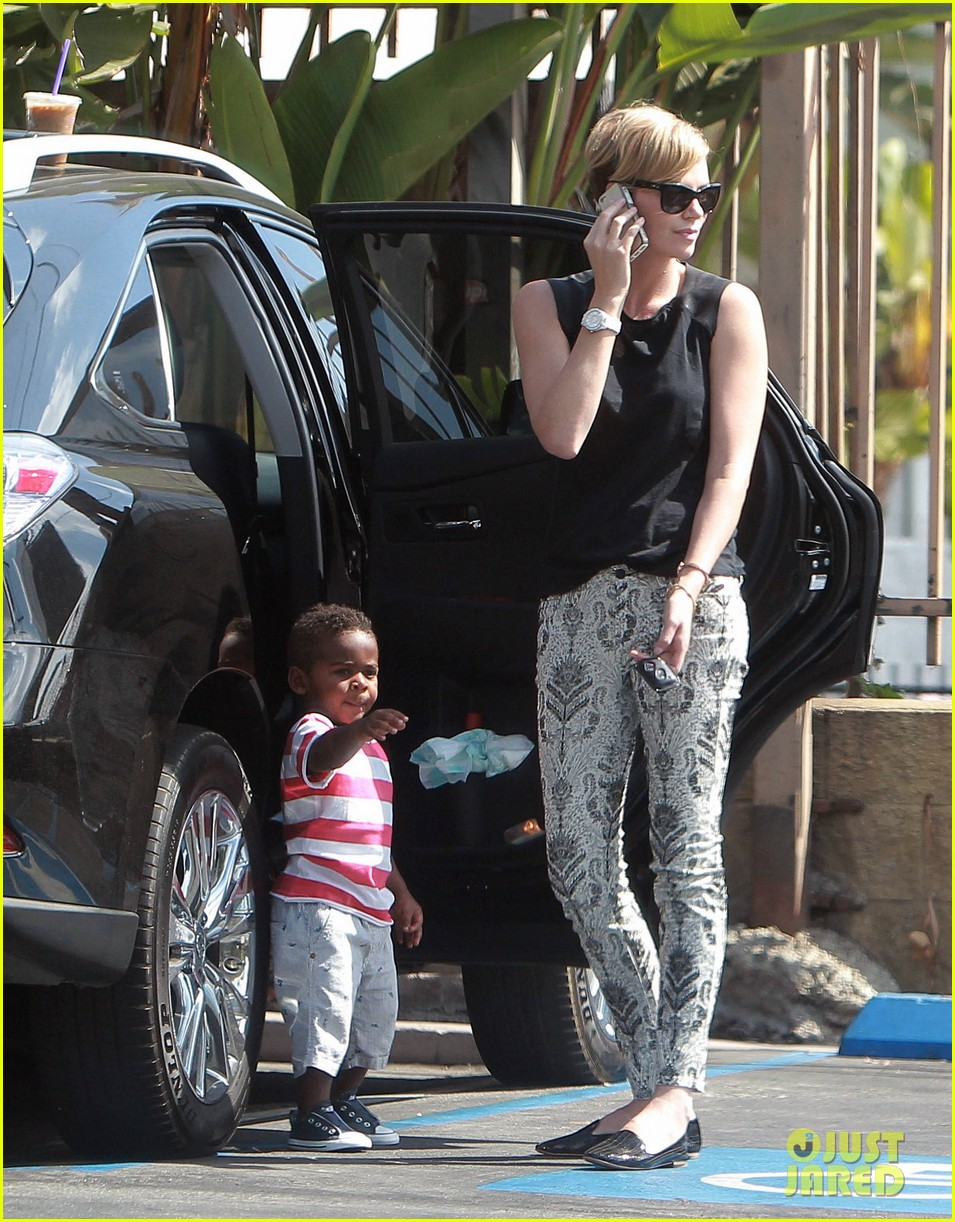 charlize theron grabs coffee with her little man jackson 19